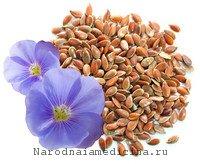 Семена льна для лечения паротита