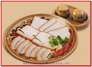 Польза свиного сала. Лечение свиным салом