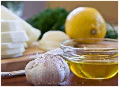 Чеснок, лимон, мед для очистки сосудов