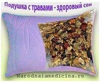 Терпеновая подушка с хвоей и травами