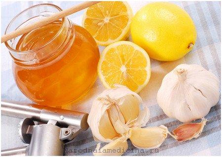 Чеснок, мед и лимон от бронхита